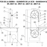 Floor Bandsaw elements